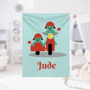 Biking-Buddies-Kids-Name-Blanket