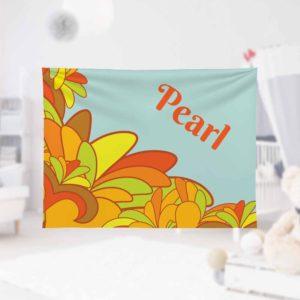 Flower-Powe-Kids-Name-Blanket