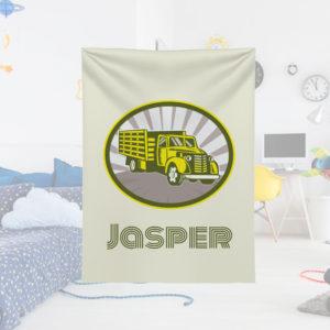 Produce-Truck-Kids-Name-Blanket