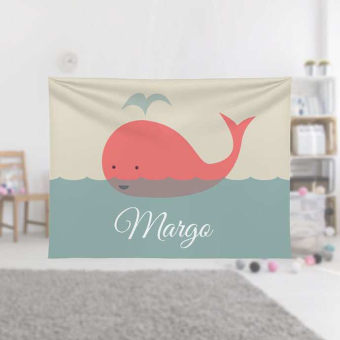 Coral-Whale-Kids-Name-Blanket