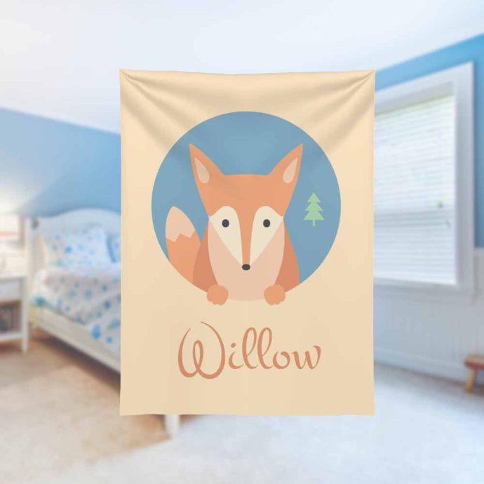 Foxy-Kids-Name-Blanket