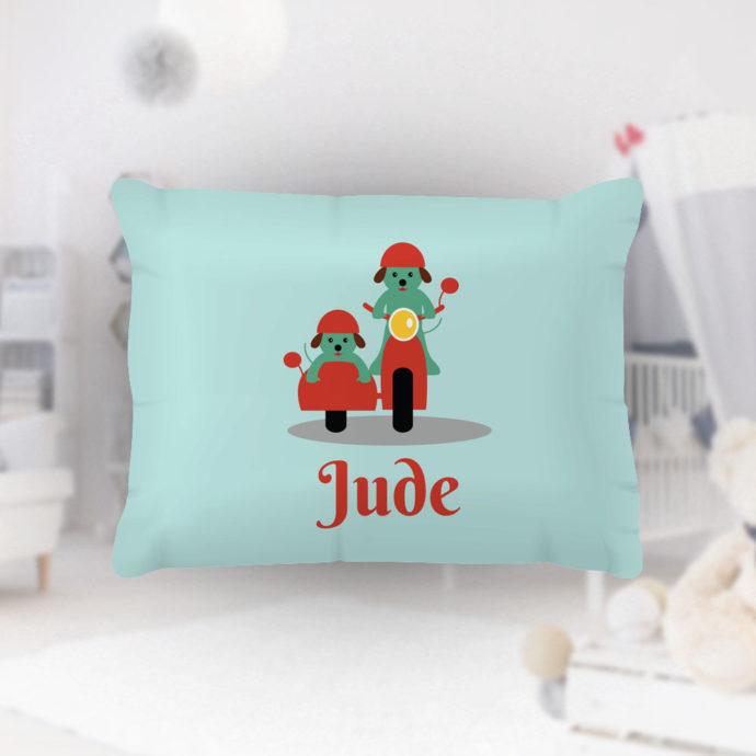 Biking-Buddies-Kids-Name-Pillowcase
