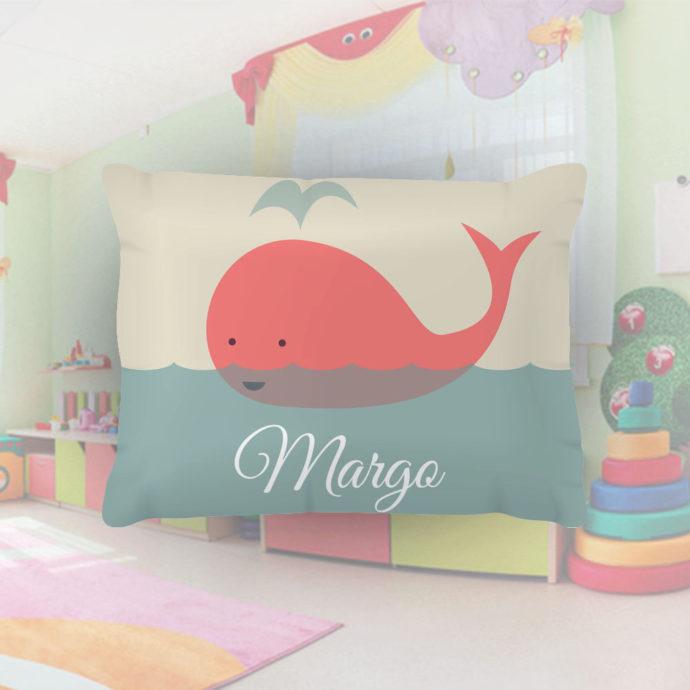 Coral-Whale-Kids-Name-Pillowcase