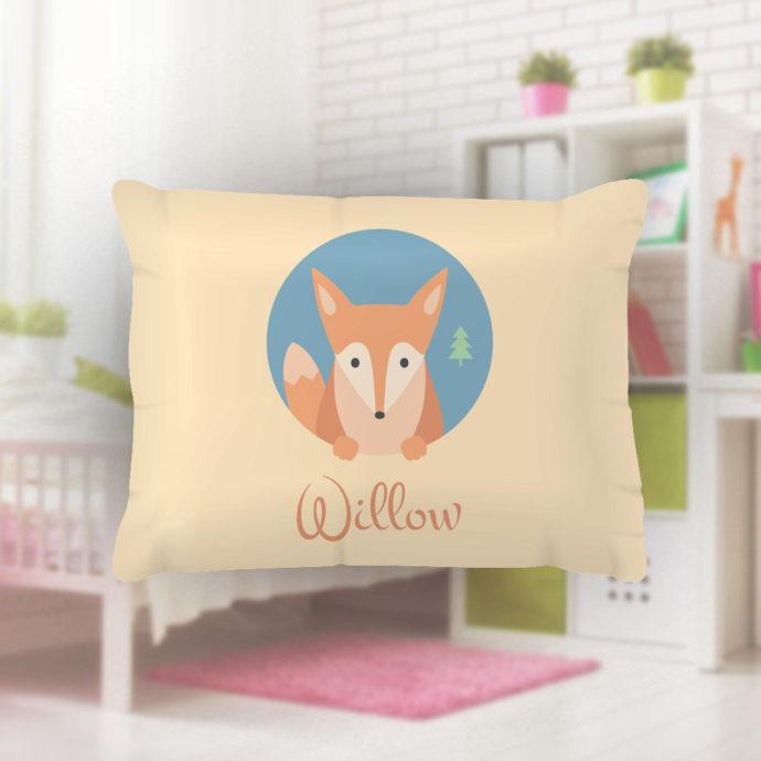 Foxy-Kids-Name-Pillowcase