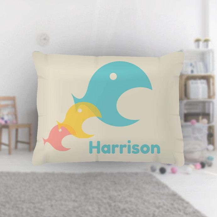 Triple-Fish-Kids-Name-Pillowcase